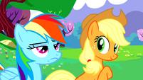 Applejack is impressed, Rainbow Dash is not S02E25