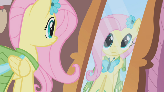 File:Fluttershy looks at herself in the mirror S1E14.png