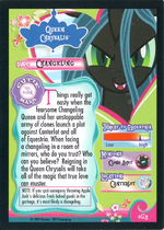Gold Queen Chrysalis card Back