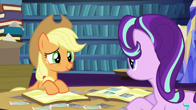 File:Starlight and Applejack scrapbooking together S6E21.png