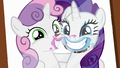 Photo of Rarity and Sweetie Belle grinning S7E6.png