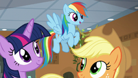 "Rainbow Dash ""I've seen those symbols!"" S7E2"
