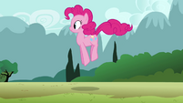 Pinkie Pie clone hopping down the path S3E3