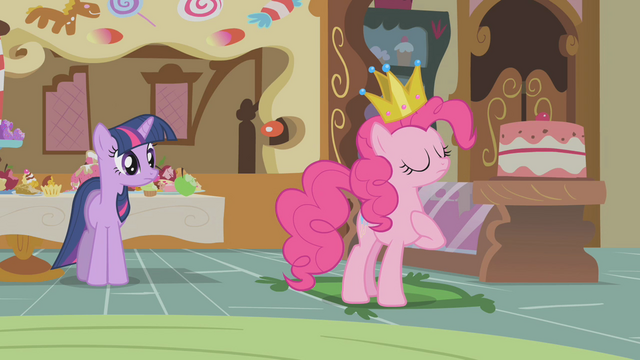 File:Pinkie Pie declares the sweets are satisfactory S1E10.png