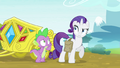 Rarity doesn't need the book anymore S4E23.png