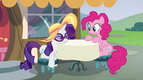 Rarity rests her head on the table S6E21