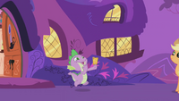 Spike running with Gala ticket S01E03.png