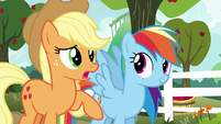 "Applejack ""we'll play against each other"" S6E18"