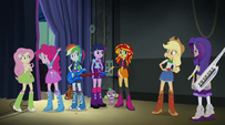"Sunset Shimmer ""much better than most of the other bands"" EG2"