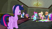 Twilight Sparkle looks at several ponies complaining S06E09