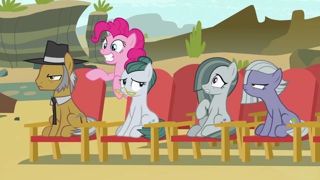 File:Pinkie's family annoyed by her loudness S7E4.png