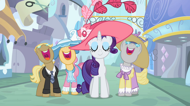 File:Ponies singing around Rarity S2E9.png