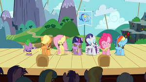 Main 6 and Spike take a bow S2E11