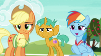 "Rainbow Dash ""you two, obviously!"" S6E18"