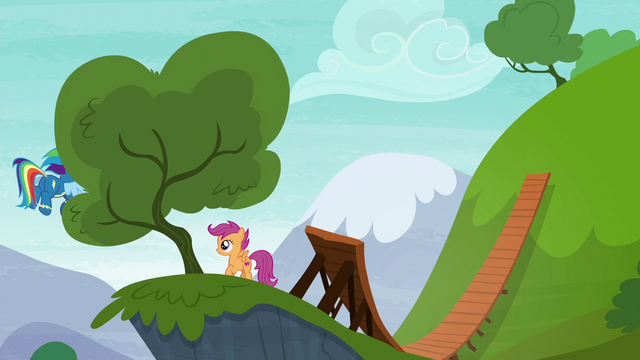 File:Rainbow Dash flying behind a tree S6E7.png