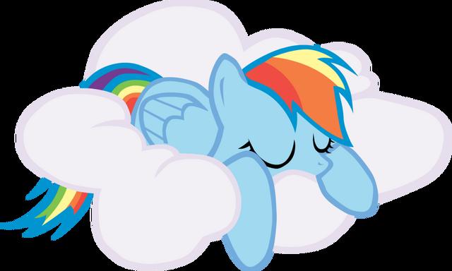 File:FANMADE Rainbow Dash sleeping on cloud.png