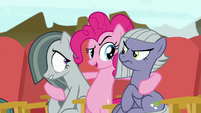 "Pinkie Pie making a ""Rock-tor Pie"" joke S7E4"