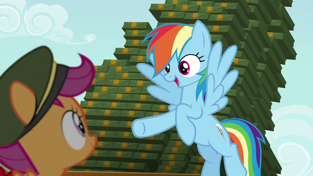 "File:Rainbow ""who's ready to sell some cookies?"" S6E15.png"