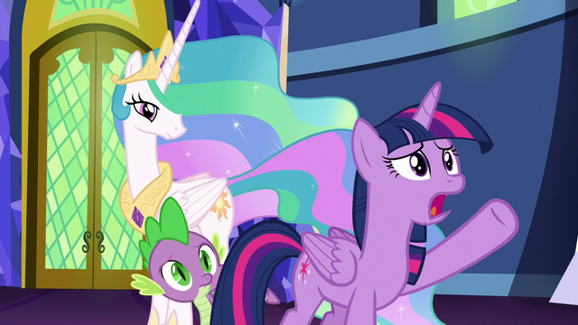 """File:Twilight """"send her off to Celestia-knows-where"""" S7E1.png"""