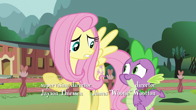 File:Fluttershy 'Of course she's good with magic' S3E05.png
