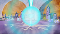 The Crystal Heart bursting from the collected power of the Crystal Ponies S3E02.png