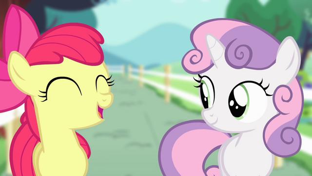 "File:Apple Bloom ""Earth ponies like me"" S4E05.png"