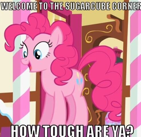 File:FANMADE Pinkie Pie how tough are ya.jpg