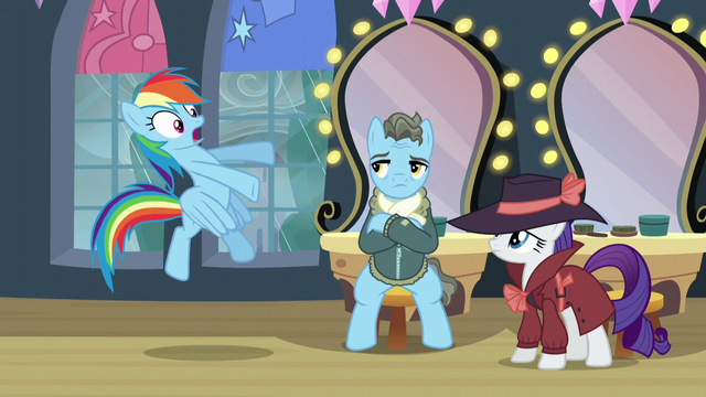 "File:Rainbow ""He's a living legend, for pony's sake!"" S5E15.png"