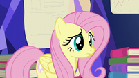 Fluttershy listening to Twilight S5E23