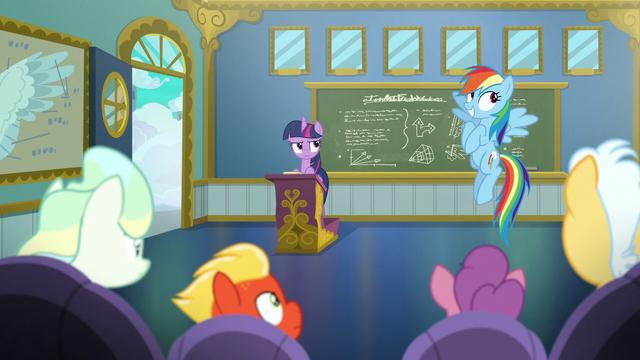 "File:Rainbow Dash ""just kidding"" S6E24.png"