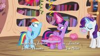 Rainbow Dash hears the book was delayed S4E04