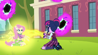 Twilight kneeling in front of Fluttershy EG3
