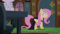 Fluttershy looking at Angel S5E21