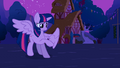 Alicorn Twilight looking at her new wings S3E13.png