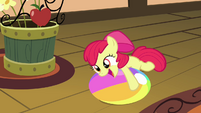 Apple Bloom playing with beach ball S4E09