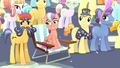 "Crystal Ponies watching the ""fireworks"" of Flurry Heart's magic beams S6E2.png"