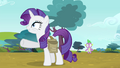 "Rarity ""I'm thinking we go by chariot"" S4E23.png"