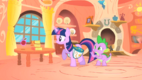 Spike asking Twilight about his chores S1E24