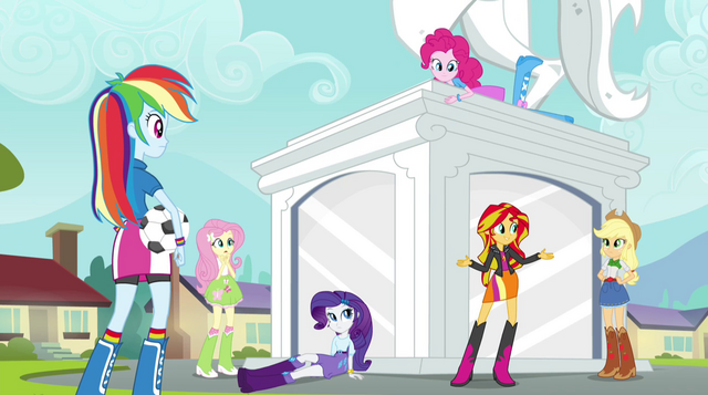 "File:Sunset Shimmer ""how we can get in touch with Twilight"" EG2.png"