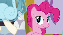 Dress being levitated from Pinkie's mane S5E14