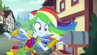 Rainbow Dash leaves an invitation in a mailbox EG4