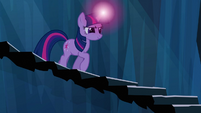 Twilight begins trotting down stairway S3E2