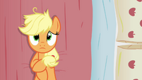 Applejack lays down on her bed S3E08