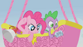Pinkie Pie and Spike observing the racers S1E13.png