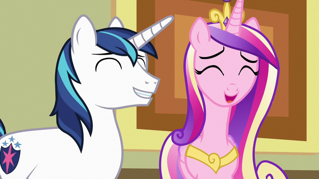 File:Cadance and Shining Armor laughing together S7E3.png