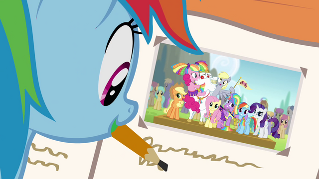 File:Ponyville team photo in friendship journal S4E10.png