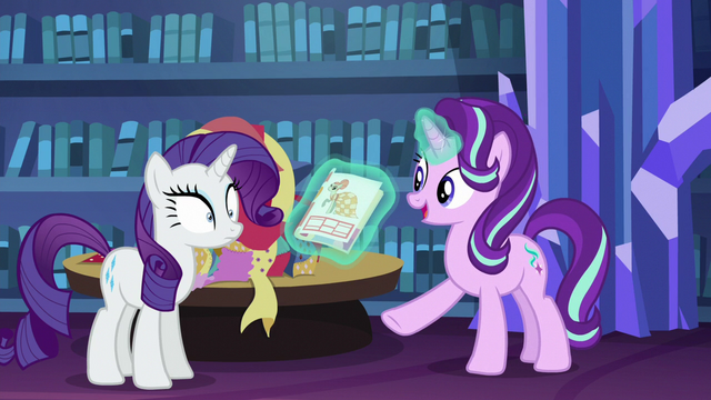File:Starlight shows Rarity a picture of a dress S6E21.png