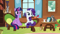 Twilight, Rarity, and animals listen to Fluttershy S7E5.png