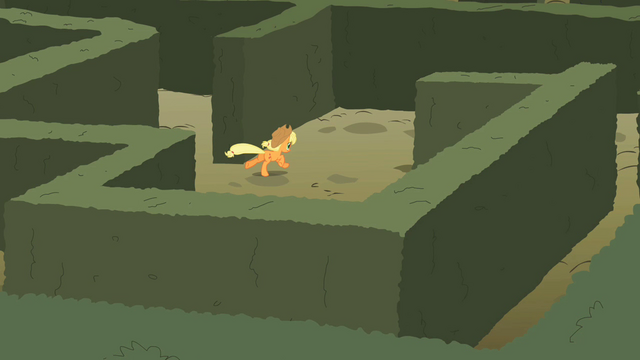 File:Applejack running the maze S2E01.png