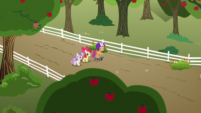File:Cutie Mark Crusaders walk to their clubhouse S6E19.png